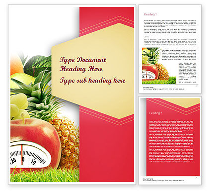 Diet Food Word Template, 11380, Food & Beverage — PoweredTemplate.com