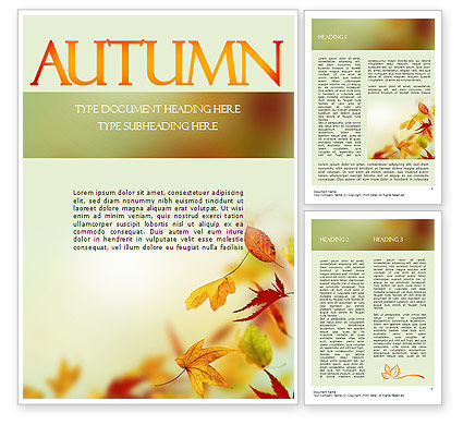 Falling Leaves Theme Word Template