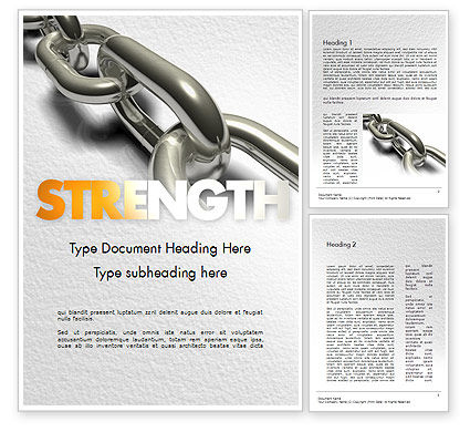 Chain Links Word Template, 11391, Business Concepts — PoweredTemplate.com