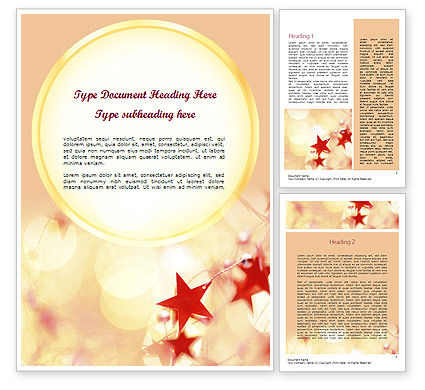 Holiday/Special Occasion: Festive Theme Word Template #11394