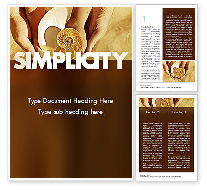 Construction: Nature Simplicity Word Template #11397