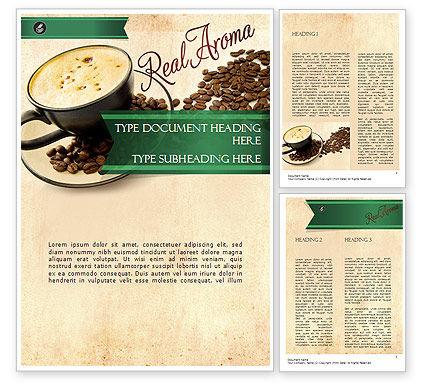 Mocha Coffee Flavor Word Template, 11398, Food & Beverage — PoweredTemplate.com