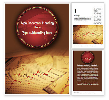 Stock Broker Services Word Template, 11399, Consulting — PoweredTemplate.com