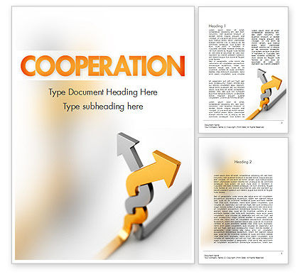 Business Concepts: Work Together Word Template #11400