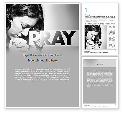 Religious/Spiritual: Women's Prayer Word Template #11401