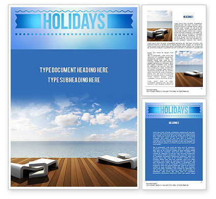 Wooden Terrace Word Template, 11405, Holiday/Special Occasion — PoweredTemplate.com