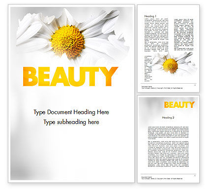 Beauty Theme Word Template