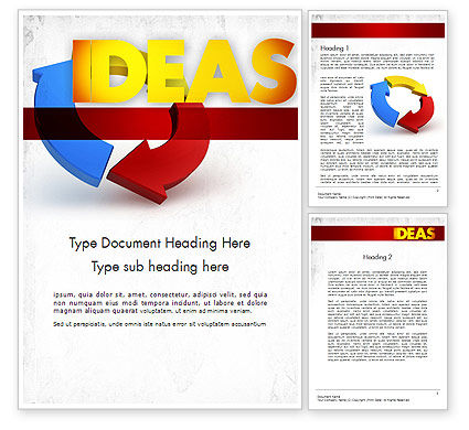 Working Ideas Word Template, 11411, Business Concepts — PoweredTemplate.com