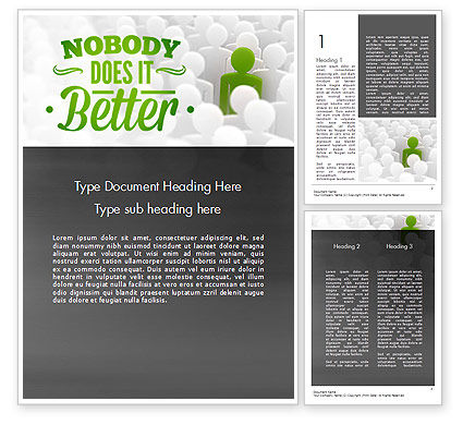 Nobody Does It Better Word Template, 11417, Business Concepts — PoweredTemplate.com