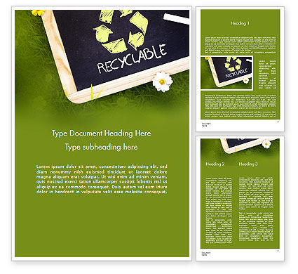 Nature & Environment: Waste Management Word Template #11419