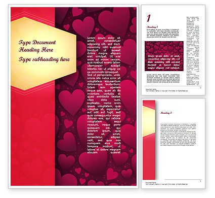 Abstract/Textures: Tag of Hearts Word Template #11428