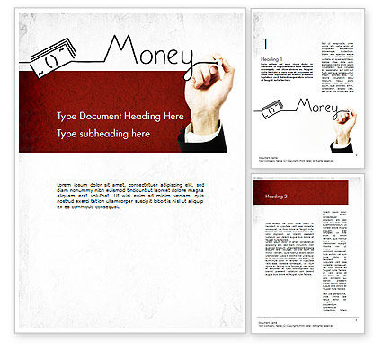 Money Presentation Word Template, 11429, Financial/Accounting — PoweredTemplate.com