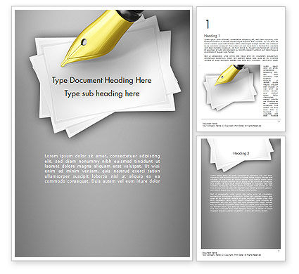 Business Concepts: Inktpen Word Template #11430