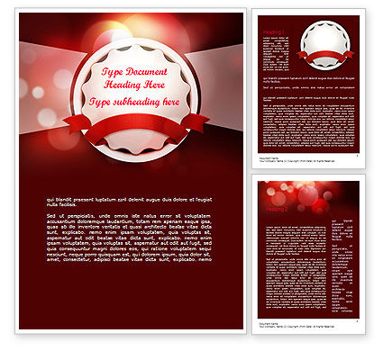 Holiday/Special Occasion: Special Occasion Background Word Template #11432