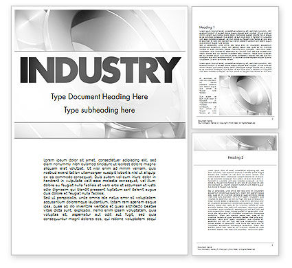 Utilities/Industrial: Heavy Industry Word Template #11433