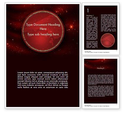 Abstract/Textures: Plantilla de Word - tema de estrellas vinosas #11436
