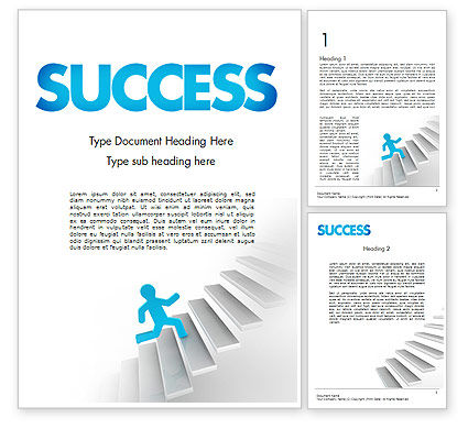 Running Upstairs Word Template, 11458, Careers/Industry — PoweredTemplate.com