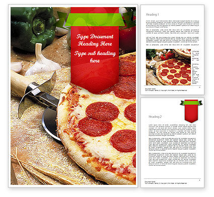 Italian Pizza Word Template, 11465, Food & Beverage — PoweredTemplate.com