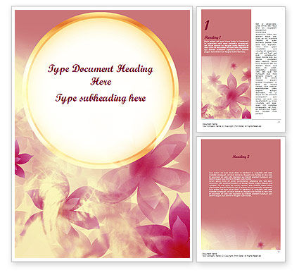 Romantic Theme Word Template, 11466, Holiday/Special Occasion — PoweredTemplate.com