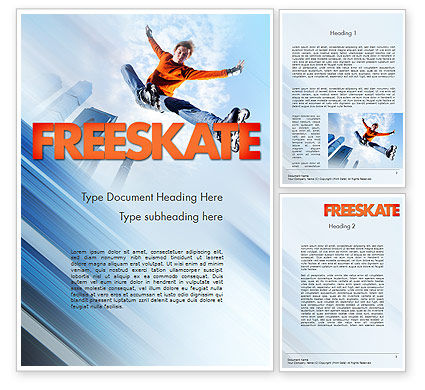 Roller Skate Freestyle Word Template, 11469, Sports — PoweredTemplate.com