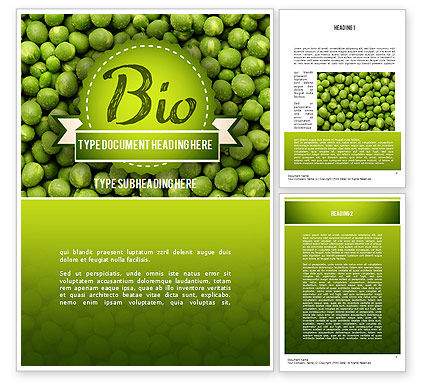 Green Peas Word Template, 11475, Food & Beverage — PoweredTemplate.com