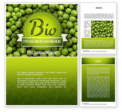 Food & Beverage: Green Peas Word Template #11475