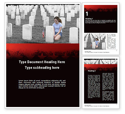 Honoring A Fallen Soldier Word Template, 11479, Religious/Spiritual — PoweredTemplate.com