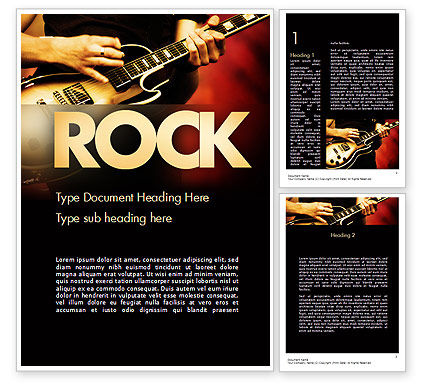 Rock Guitar Word Template