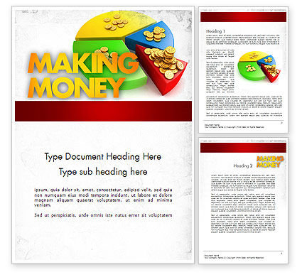 Money Pie Word Template, 11482, Financial/Accounting — PoweredTemplate.com