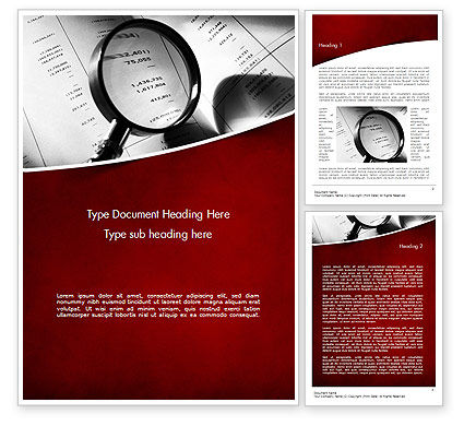 Legal: Financial Fraud Research Word Template #11485