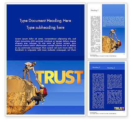 Climbing Team Word Template, 11492, Sports — PoweredTemplate.com
