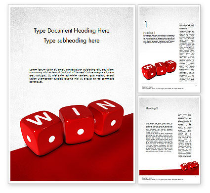 Winning Combination Word Template, 11500, Business Concepts — PoweredTemplate.com