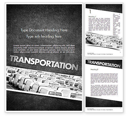 Transportation Services Word Template, 11501, Cars/Transportation — PoweredTemplate.com