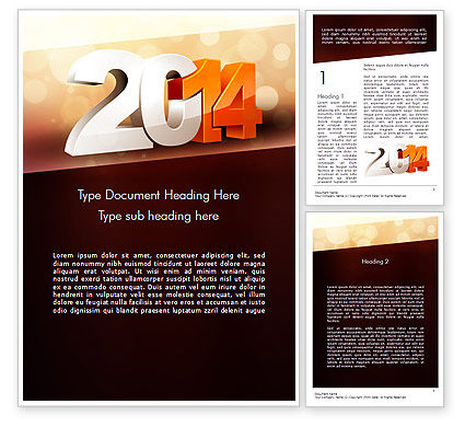 2014 Word Template, 11503, Holiday/Special Occasion — PoweredTemplate.com
