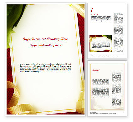 Holiday/Special Occasion: Beautiful Greeting Card Word template #11508