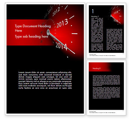 Business Concepts: 2014 Year Speedometer Word Template #11509
