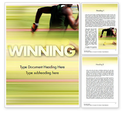 Sprinter Word Template, 11513, Sports — PoweredTemplate.com