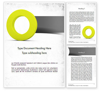 Education & Training: Light Green Zero Word Template #11521