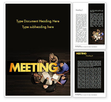 Consulting: Project Meeting Word Template #11526