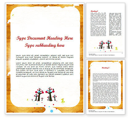 Enchanted Forest Word Template, 11528, Education & Training — PoweredTemplate.com