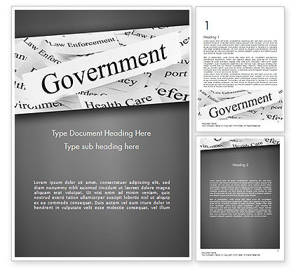 Government Word Template, 11529, General — PoweredTemplate.com