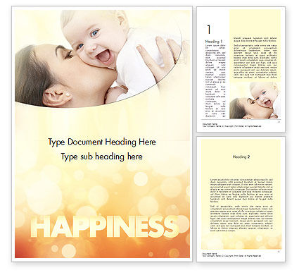 Happy Maternity Word Template, 11535, People — PoweredTemplate.com