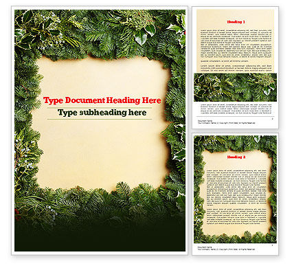Holiday/Special Occasion: Christmas Frame Word Template #11537