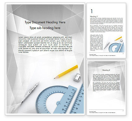 Drafting Tools Word Template, 11551, Careers/Industry — PoweredTemplate.com