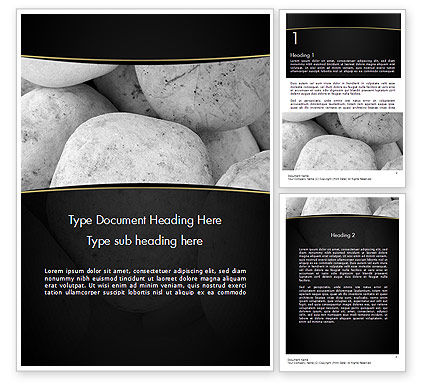 Large White Stones Word Template, 11554, Business — PoweredTemplate.com