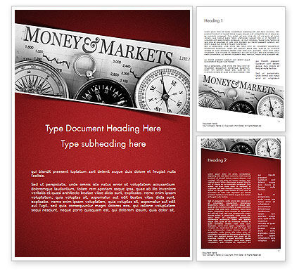 Money and Markets Word Template, 11559, Financial/Accounting — PoweredTemplate.com