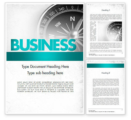 Business Concepts: Business Navigation Concept Word Template #11563