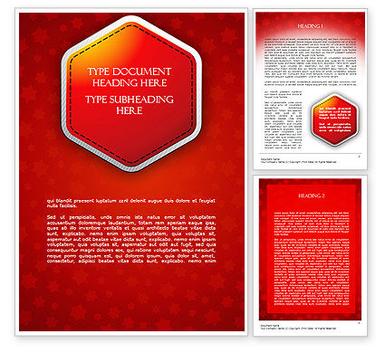 Abstract/Textures: Red Background with Stars Word Template #11566