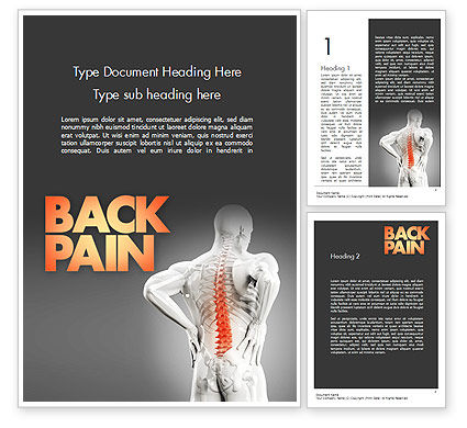 Medical: Back Pain Word Template #11571