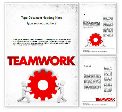 People With Gear Word Template, 11572, Business Concepts — PoweredTemplate.com